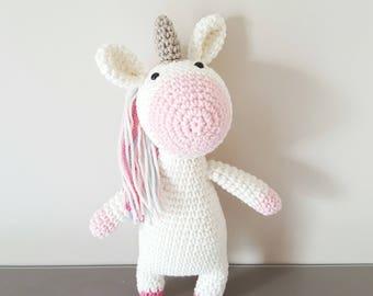 Amigurumi unicorn, Handmade crochet unicorn, crochet amigurumi toy doll, unicorn amigurumi, girls bedroom decor