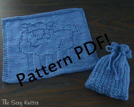 Sheepy Lamb Washcloth Soap Sack Pdf Knitting Pattern By The