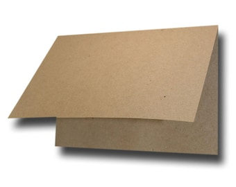 Blank Kraft Brown Bag Place Cards Folded Tent Cards -- Great for Table Cards 100% Recycled