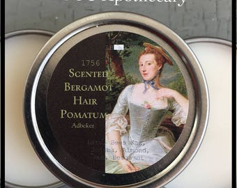 1756 Pomade- 18th Century Bergamot Pomatum Soft Hair Shiny Hair Vintage Pomade Historical Pomade 18th Century Hairstyle Hairdressing Natural