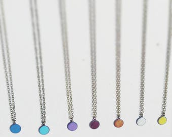 Drop Of Color Enameled Necklace