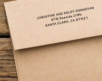 Return Address Stamp - Modern Address Stamp - Housewarming Gift - Address Stamp - Custom Address Stamp - Christine and Kelsey