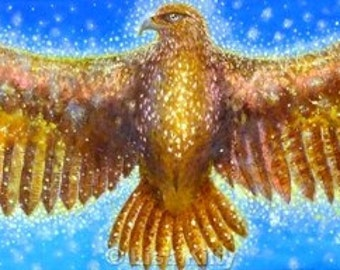Sacred Eagle -  High Quality Limited Edition Giclee Print, signed and dated. Eco-friendly packaging