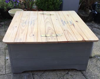 Painted Box Coffee Table with Storage
