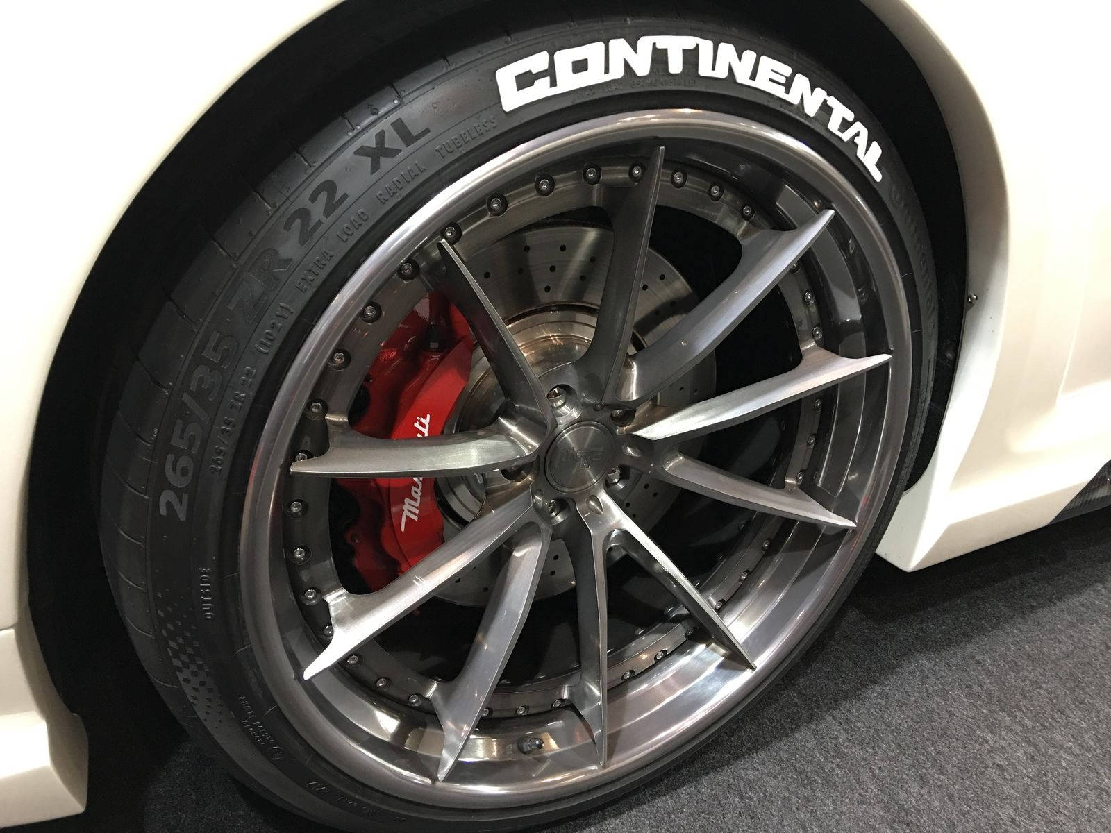 Permanent Tire Letters 1 inches 25cm Continental White 8
