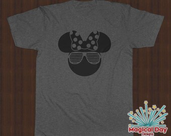 Disney Shirts - Minnie Mouse Stunner Shades (Black Design)