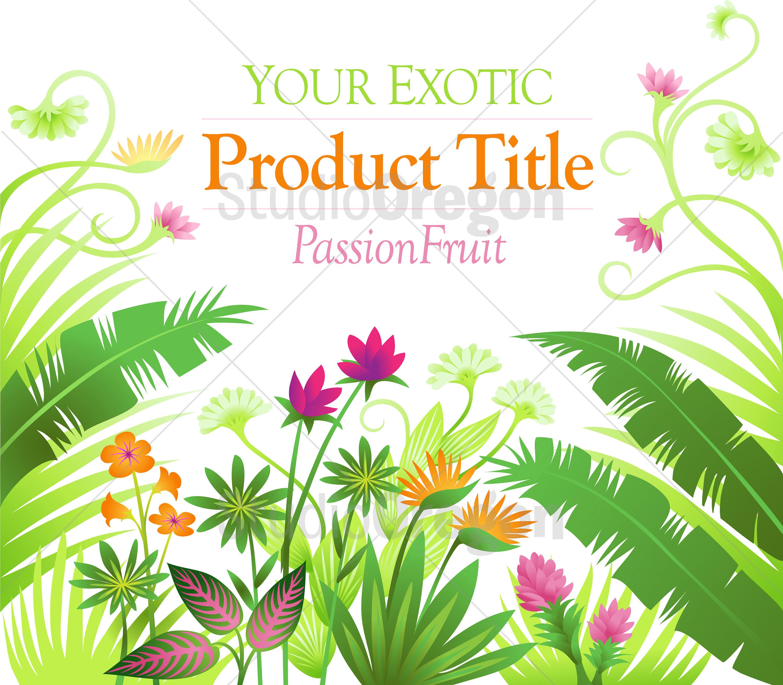 Hellen tropischen Pflanzen Instant Art Download tropischen