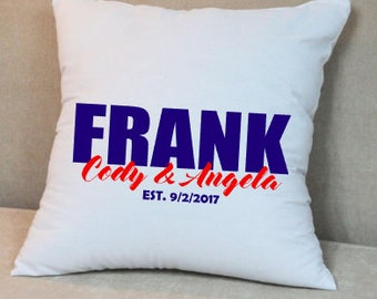 Family Name Throw Pillow