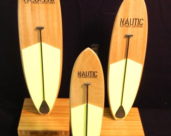 Surf Style SUP Wood Trophy with Paddle