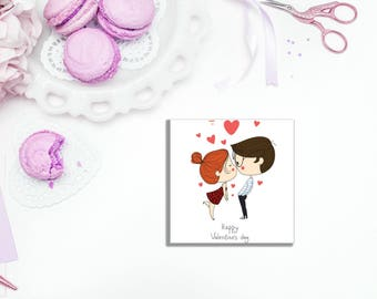 Valentine's Couple Sticky Notes