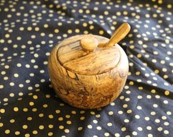 Wooden sugar bowl