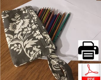 Pencil Case Pattern | Small Pencil Case sewing Pattern PDF | Instant Download Pattern |