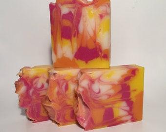 Plumeria Soap, Cold Process Soap, Homemade Soap, Handmade Soap, Vegan Soap