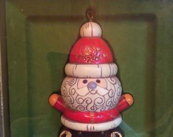 Vintage Hallmark Tree Trimmer Collection Ornament Santa Claus 1970's
