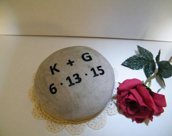 Wedding Gift/ Wedding Rock/Wedding Stone Personalized