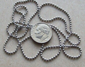 Stainless steel bead ball necklace chain, steel bead chain, steel bead necklace, 1.5mm No. 0 Stainless Steel bead ball chain.