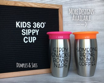 Kids easter gifts etsy 10oz stainless steel 360 sippy cup funny kids cup starbucks sippy cup negle Image collections