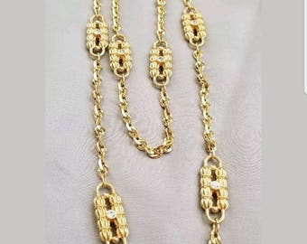Jacqueline B Kennedy Paperclip Necklace