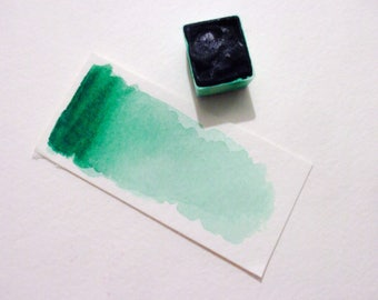 Phthalo Green - Handmade Watercolor Paint - Art Supply - Artist Gift - Art Paint - Handcrafted Professional Watercolour