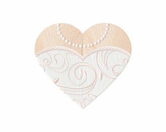 Heart Wedding Dress - Bride & Groom Hearts - Bride Dress Collection #01 Machine Embroidery Design