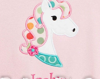 Unicorn Shirt, Personalized Unicorn Shirt, Monogrammed, Personalized, Girls or Boys, Custom Fabric and Font