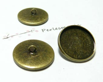 Primer 10 blank buttons sewing 18mm BR