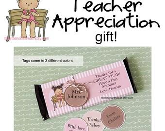 Personalized Teacher Appreciation / Hershey Candy Bar Wraps - Teacher Appreciation Gift Ideas /Personalized Teacher Appreciation Gift