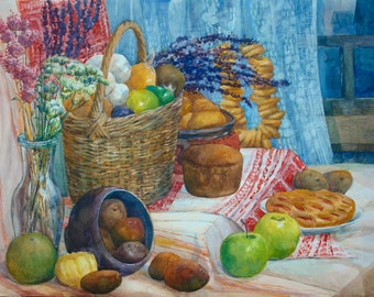 exclusive painting in a single copy. Russian still life