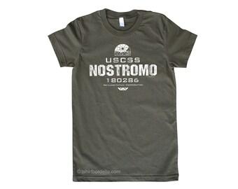Womens NOSTROMO Horror T Shirt
