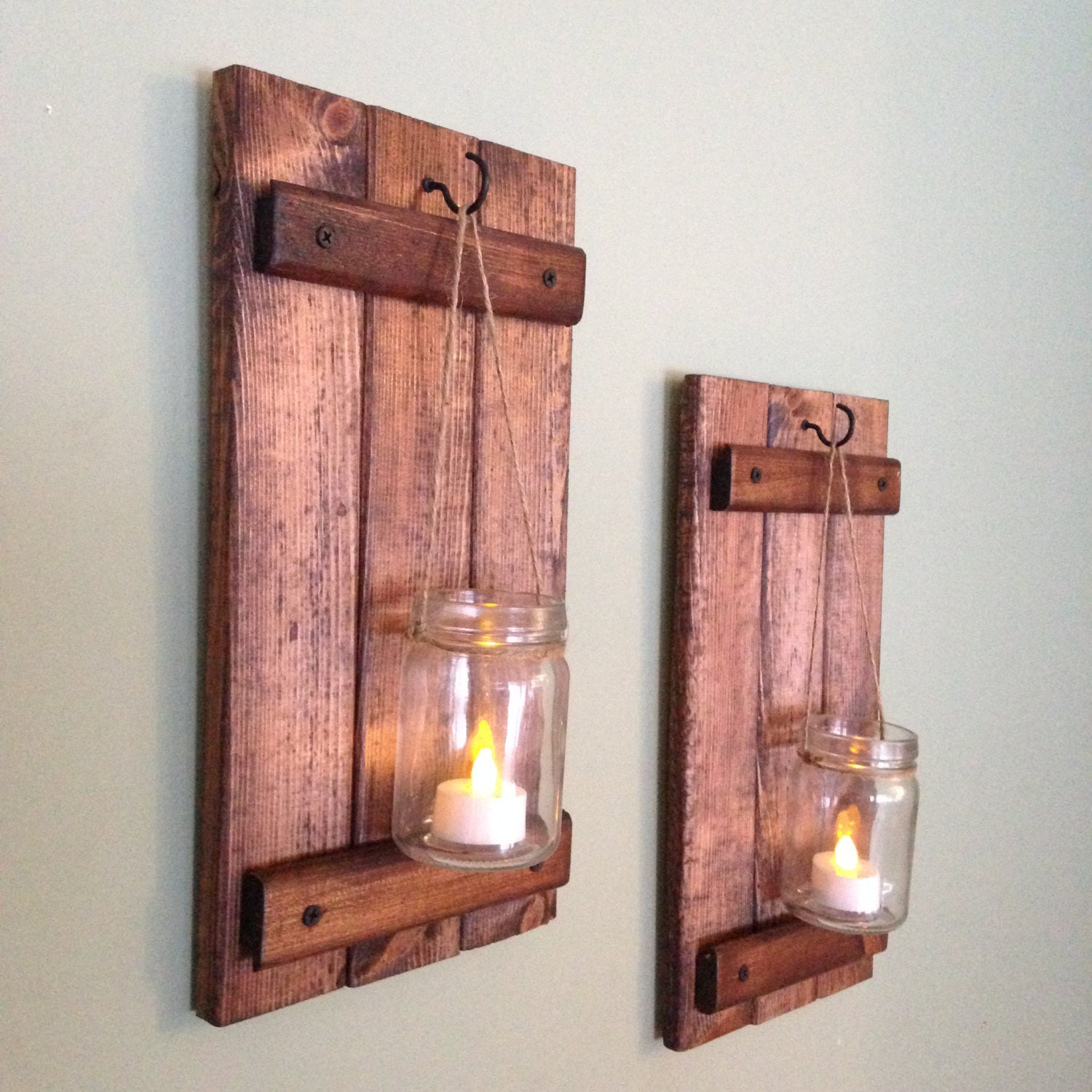Rustic Wall Decor Best Rustic Wall Decor Wooden Candle Holder Rustic Mason Jar Decorating Inspiration