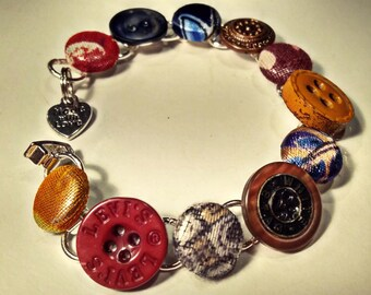 Custom Vintage Button Bracelet