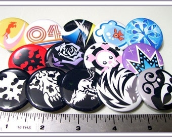 TWEWY The World Ends With You Buttons (5 pin back buttons)