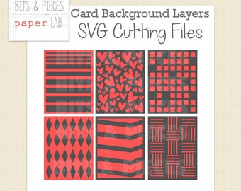 SVG Cutting Files: Card Background Layers