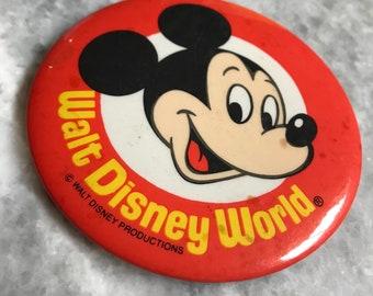 Vintage Disney World  Pin Badge
