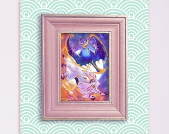 PKMN Sun and Moon / Solgaleo and Lunala 5x7 Print