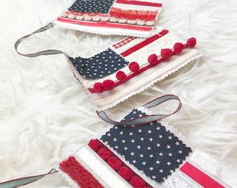 BANNER country flag garland AMERICANA decor