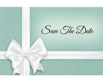 "Something Blue - Wedding Save The Date Postcards - 4""x6"""