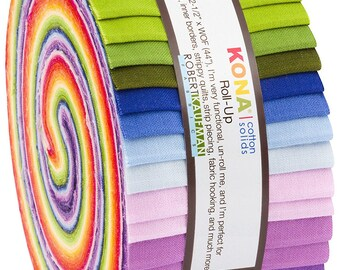 Annie Smith Kona Cotton Solids Designer Bundle JELLY ROLL 40 2.5-inch Strips from Robert Kaufman RU-688-40