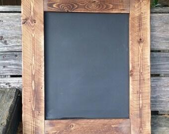 Rustic Chalkboard 21 X 18 Home Decor Menu Board Wood Chalkboardr Sign Wedding Chalkboardblackboard