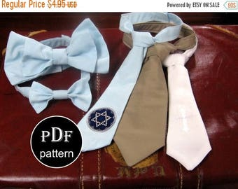 50% OFF SALE Necktie Sewing Pattern -Includes Bowtie Pattern PDF Baby, Toddler, and Boys Sizes 12 months through 8