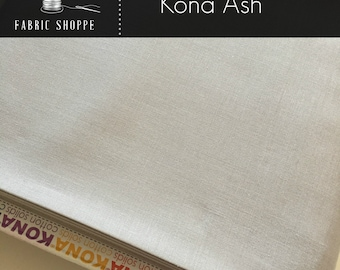 Kona cotton solid quilt fabric, Kona ASH 1007, Gray fabric, Solid fabric Yardage, Kaufman, Cotton fabric, Choose the cut
