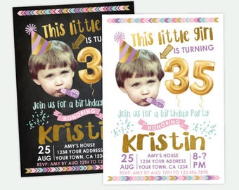 Adult Birthday Invitation with Picture, Funny Birthday Invitation, 30, 40, 50 Birthday Invitation, Any age Personalized DIGITAL Invite