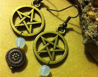 Pentacle Drop and Dangle Earrings