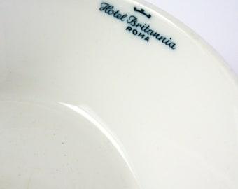 Vintage White Rosenthal China Bowl - Thomas Germany - Hotel Britannia Restaurant Ware - White Home Decor - Vintage Hotel China Kitchen Decor