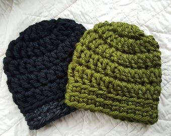 Men's/Hunting/Fishing/Winter Handmade Chunky Crochet Beanie