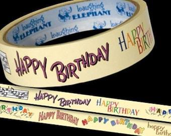 1-Inch Decorative Tape - Happy Birthday