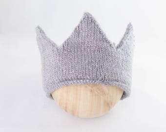 Evermore Crown, knit baby crown Newborn Photography Prop, Photo Prop, Knit Bonnet