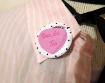 time for tea time pin