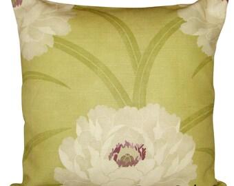 Sanderson Leora Green Floral Cushion Cover