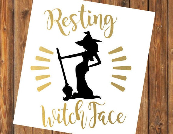 Free Shipping-Don't be a Basic Witch, Resting Witch Face, Halloween Decal Sticker, Sanderson Sisters, Hocus Pocus, Salem Black Cat, Haunted